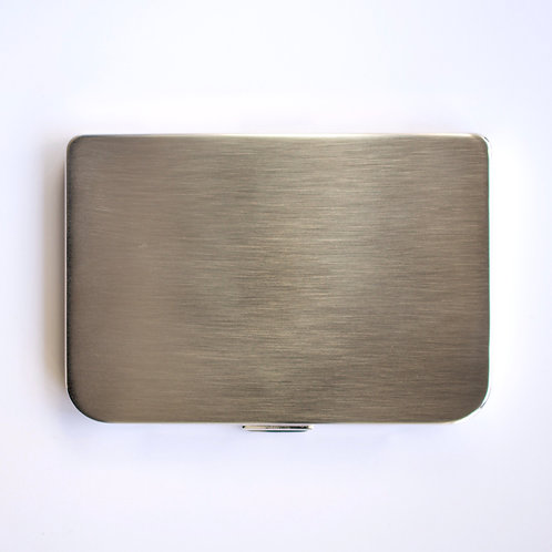 Mirror Card Holder (silver satin)