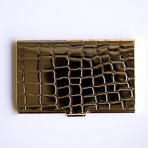 Alligator Card Holder (gold)