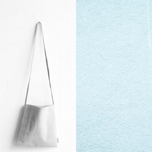 [受注] niuhans × howse / Mini Bag - Square (shoulder/Pale Blue)