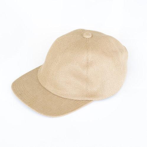 niuhans / Heavyweight Linen Broken Washer Baseball Cap (beige)