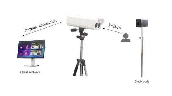 système avancé de détection de température grâce à caméra IP et corps noir