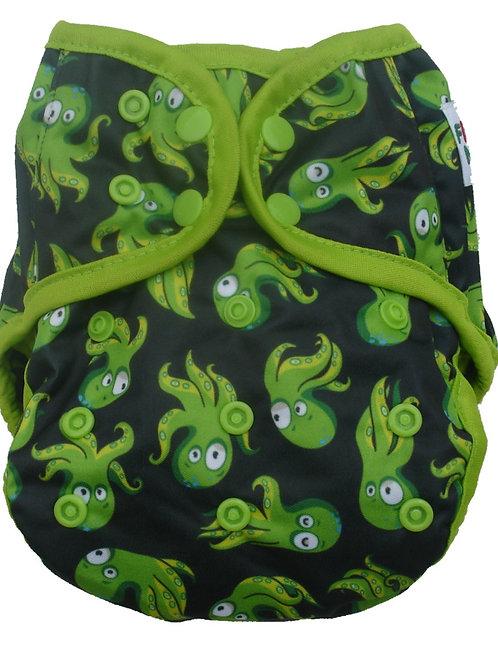 Fluffy Nature overbroekjes Green Octopus XL