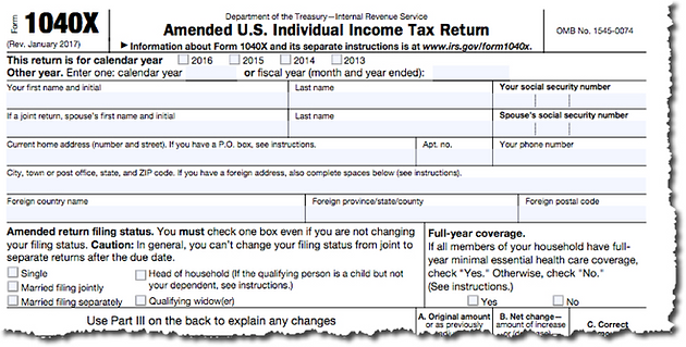 How Do You File an Amended Tax Return? | SBC Inc  | CPAs & Business