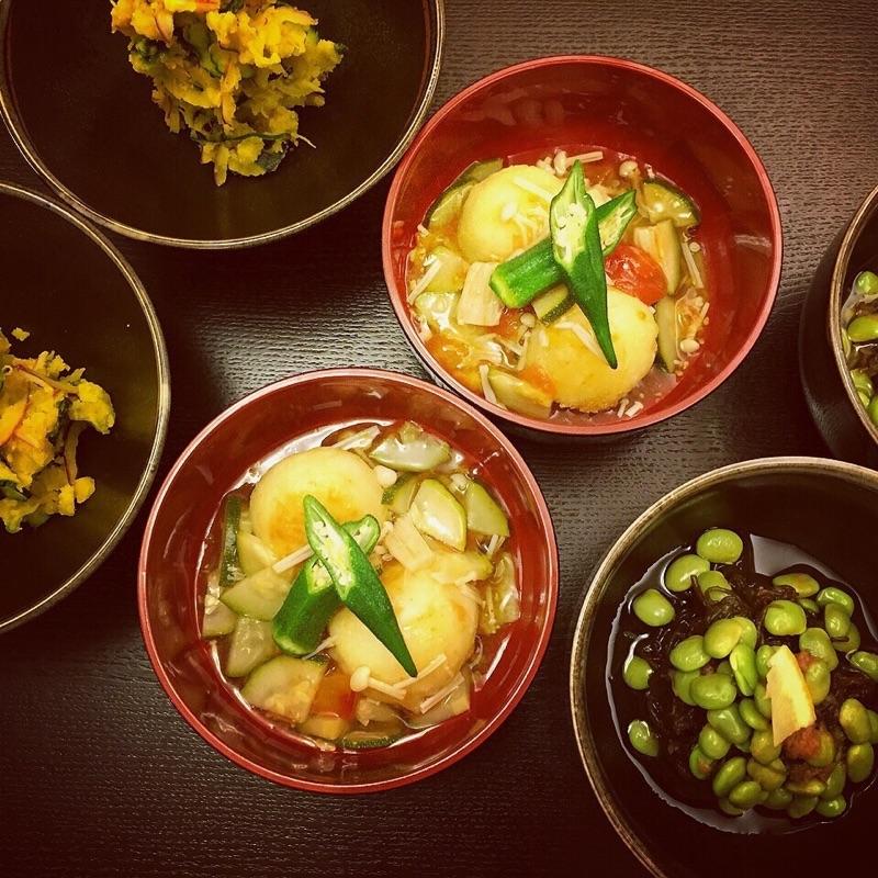 """夏野菜を沢山使って """"和""""にしてみました"""