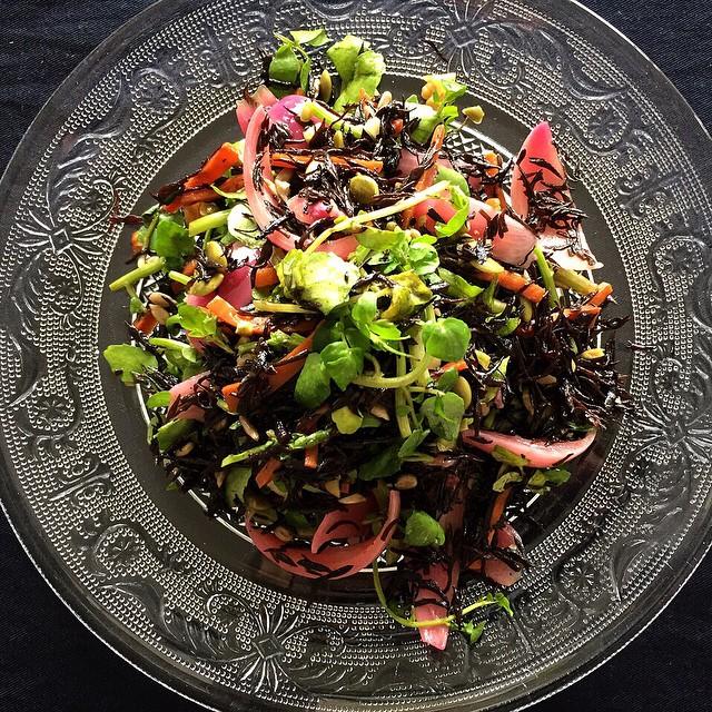紫玉ねぎピクルスのひじきサラダ