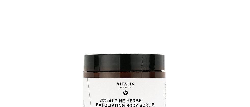 VITALIS   alpine herbs exfoliating body scrub 250ml