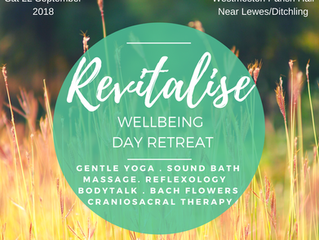 REVITALISE - Wellbeing Day Retreat in Westmeston Nr Lewes/Ditchling, Sussex - Saturday 22nd Septembe