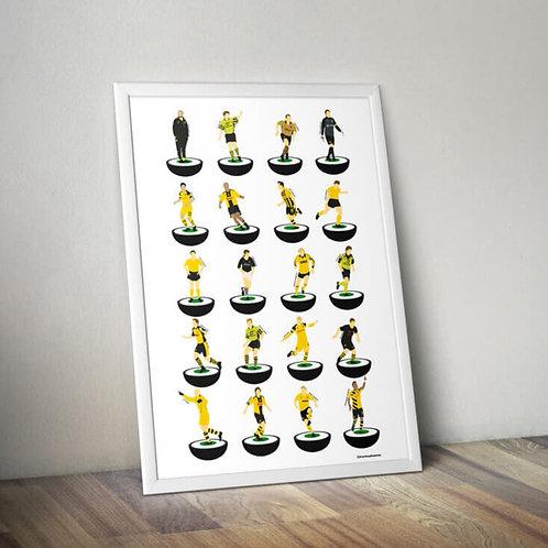 Borussia Dortmund A3 Subbuteo Legends Print