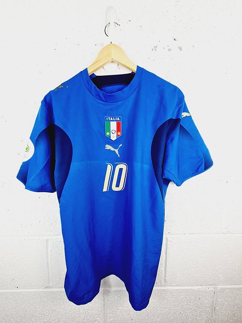Italy World Cup 2006 Home - Size M - Totti 10