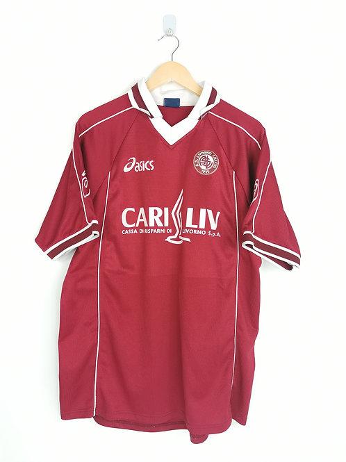 Livorno 1999-00 Match Worn Home - Size XL - Signed Protti 10