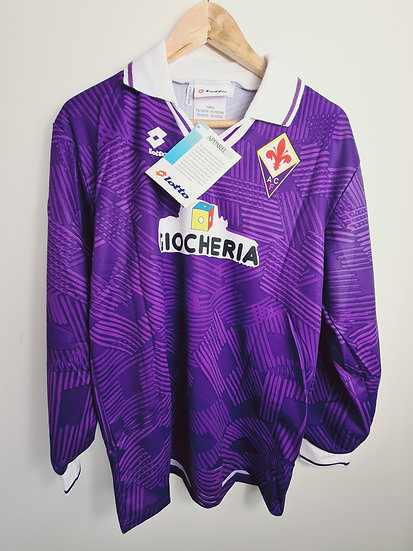 Fiorentina 1991-92 Home - Size L - BNWT - Number 16