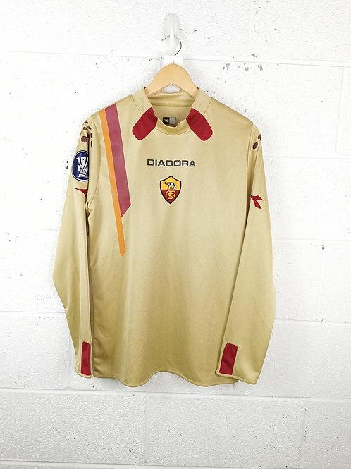 AS Roma 2005-06 Europa League L/S GK - Size L - Doni 32
