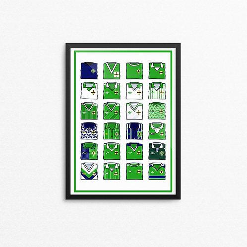 Northern Ireland Kit Print - A4