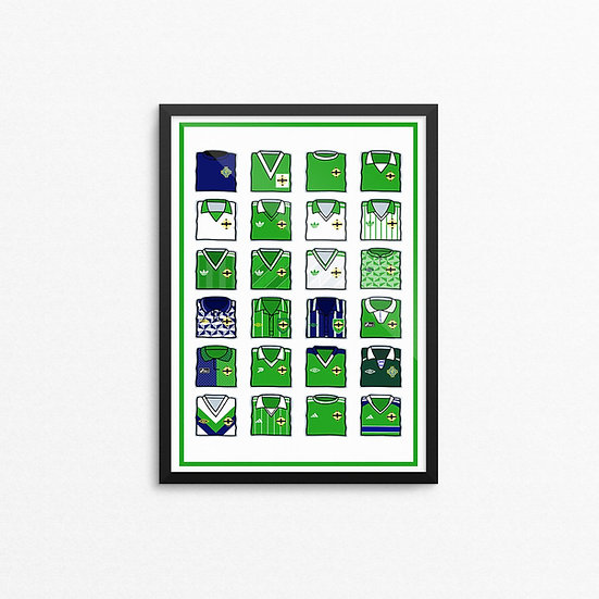 Northern Ireland Kit Print - A4