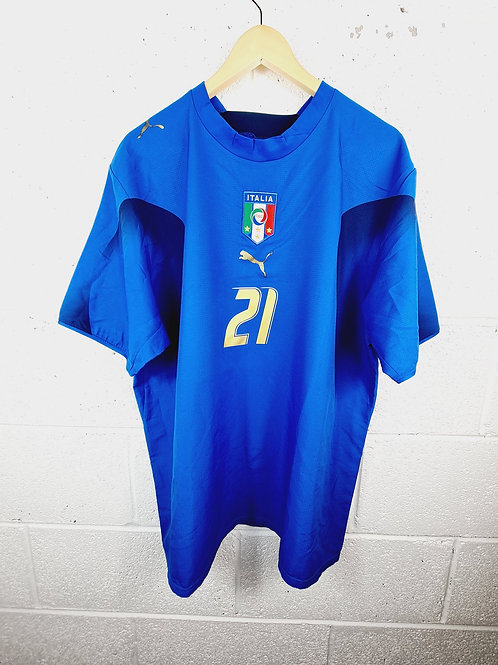 Italy World Cup 2006 Home - Size XL - Pirlo 21