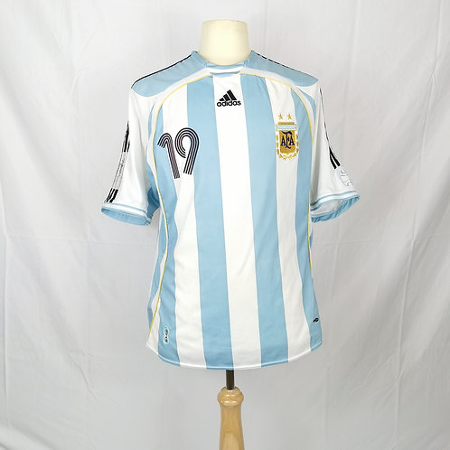 Argentina World Cup 2006 Home Shirt - Size XL - Messi 19