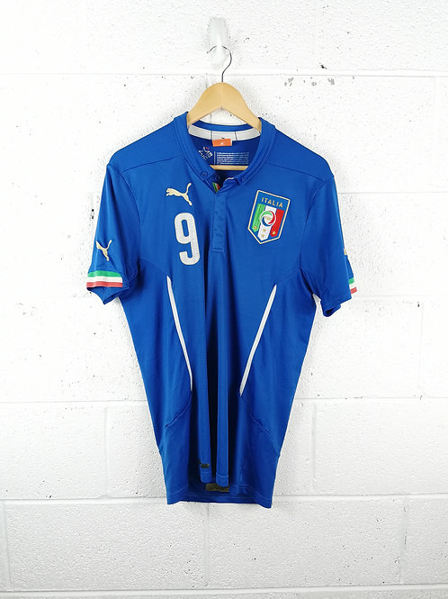 Italy 2014-16 Home – Size M - Balotelli 9