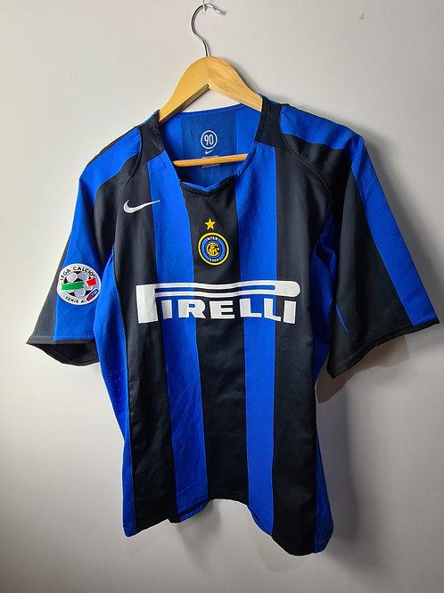 Inter Milan 2004-05 Home - Size L - Martins 30