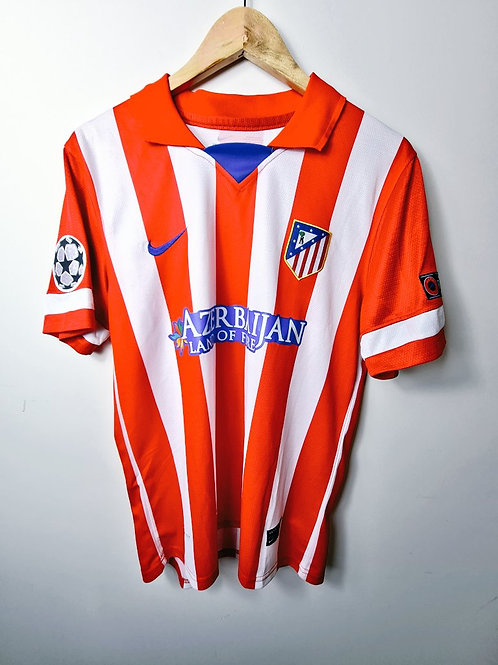 Atletico Madrid 2013-14 CL Home - Size L - Arda Turan 10