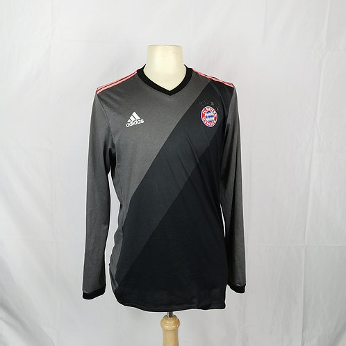 Bayern Munich Player Issue 2016-17 L/S Away - Size 8/L - Lewandowski 9