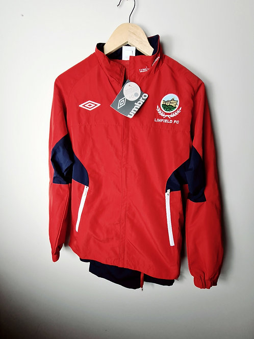 Linfield Red and Navy Tracksuit - Size S - BNWT