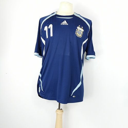 Argentina World Cup 2006 Away Shirt - Size XL - Tevez 11