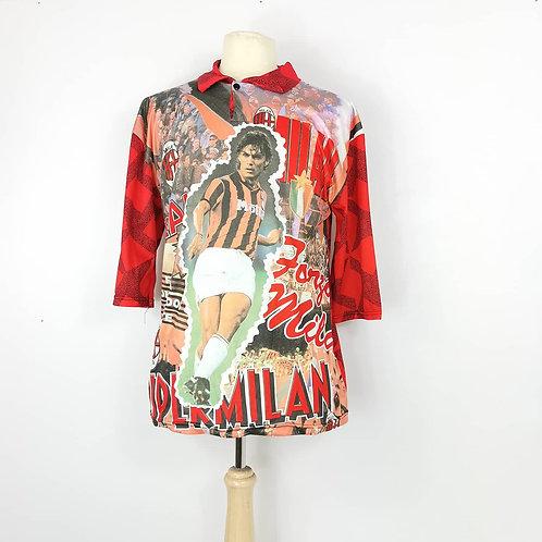 AC Milan 90's Fans Shirt – Size XL - Maldini 3