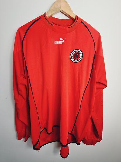 Albania 2002-04 Player Issue Home - Size L/XL - Number 18