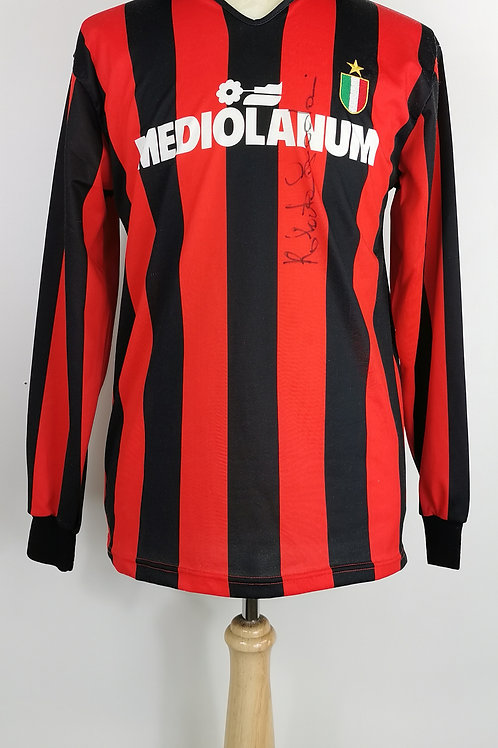AC Milan 1988-89 L/S Home - Size M - #7 - Signed by Roberto Donadoni