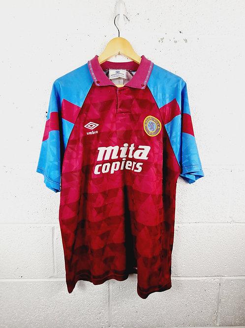 Aston Villa 1990-92 Home - Size L