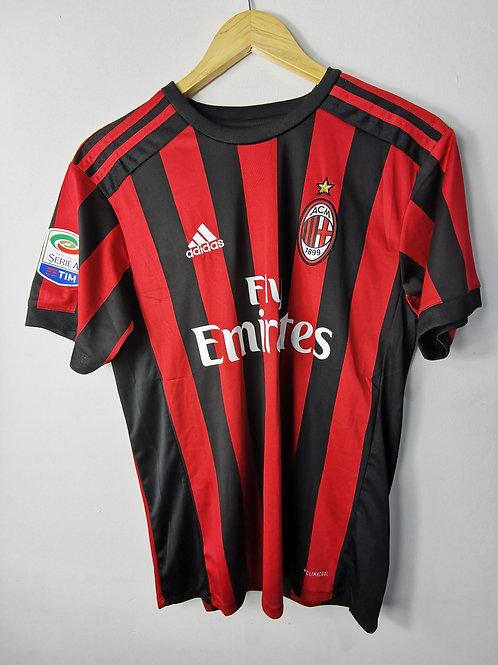 AC Milan 2017-18 Home - Size M - Bonucci 19