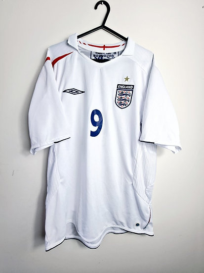 England 2005-07 Home - Size L - Rooney 9