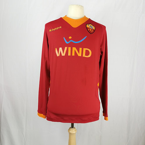 AS Roma 2011-12 L/S Home - Size L - Heinze 5