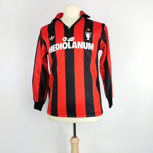 AC Milan 1990-91 L/S Match Issue Home - Size S - #7