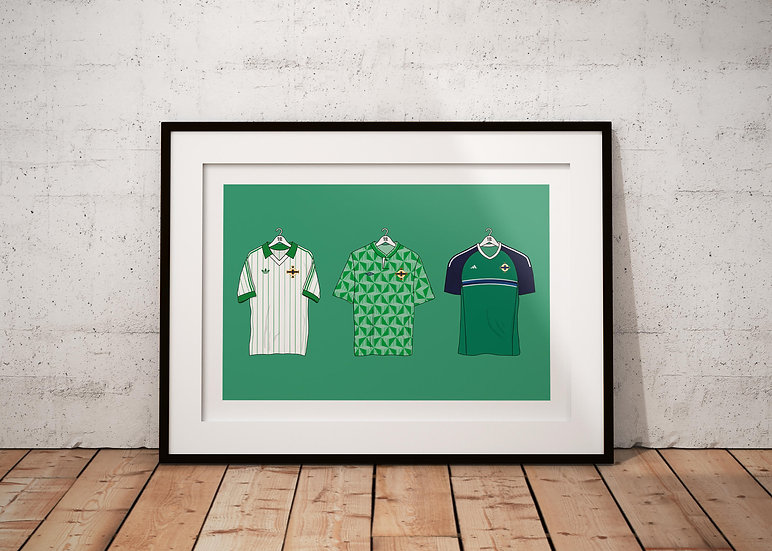 Northern Ireland 3 Kits Print - A4