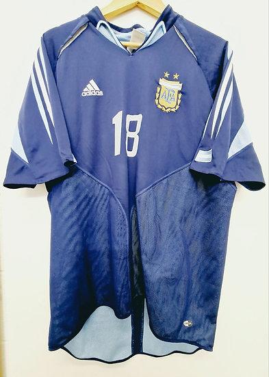 Argentina 2004-05 Away - Size XL - Messi 18