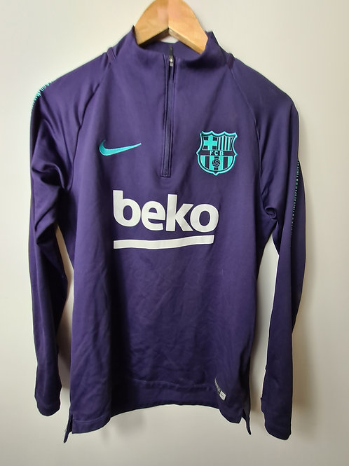 Barcelona 2017-18 Training Tracksuit Top - Size S
