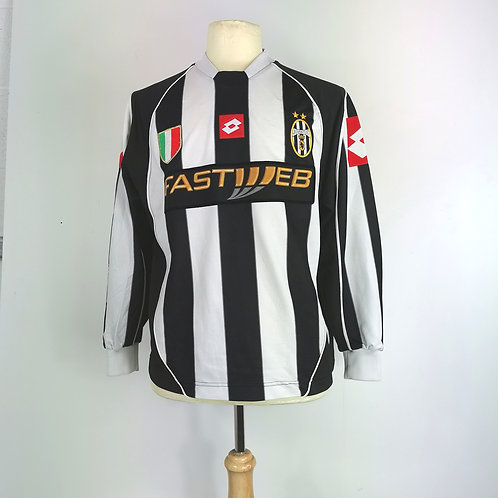 Juventus 2002-03 L/S Home - Size S - Salas 9