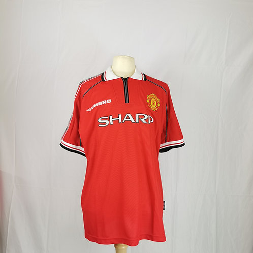 Manchester United 1998-00 Home - Size XL - Scholes 18