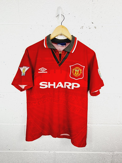 Manchester United 1995-96 Home - Size y/Small Mans - Ince 8