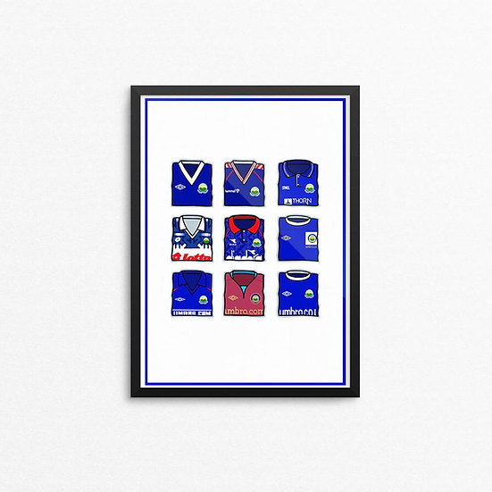 Linfield Kits Print - A4