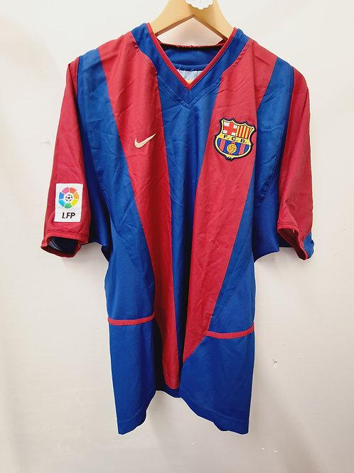 Barcelona 2002-03 Home - Size L - Saviola 7