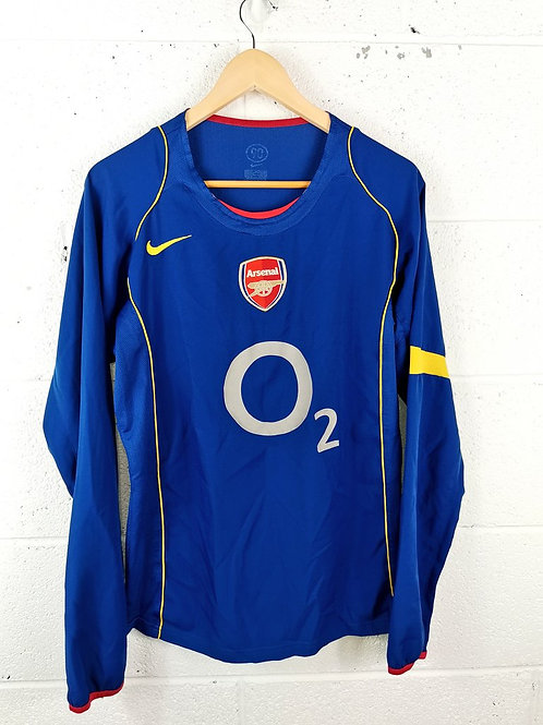 Arsenal 2004-05 L/S Away - Size S