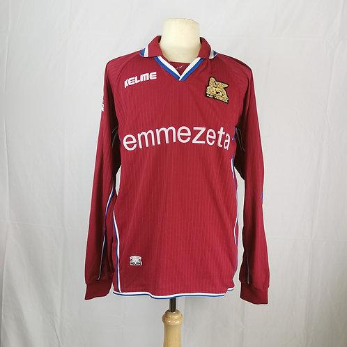 Venezia 2002-03 L/S Match Issue Third - Size XL - Maniero 9