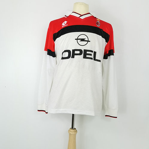 AC Milan 1994-95 Match Issue L/S Away - Size M - #13