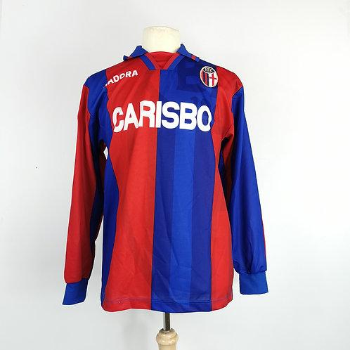 Bologna 1996-97 Matchworn L/S Home - Size L - Andersson 19