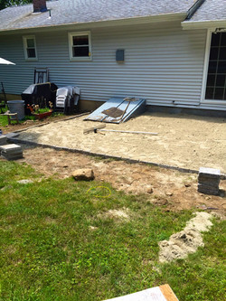 During Picture of patio in CT