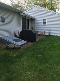 Before picture of patio in CT