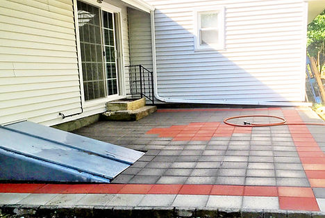 Landscaping, hardscape installation of paver patio in east lyme, connecticut.