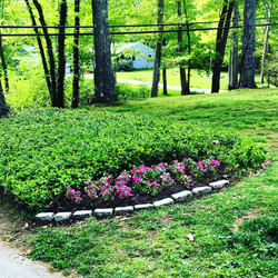 Planting of garden in East Lyme, CT